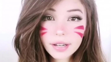 Cutest woman ever? Belle Delphine D.Va cosplay ahegao face